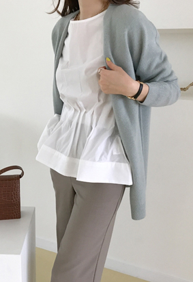[Wholegarment Rose cardigan (mint)