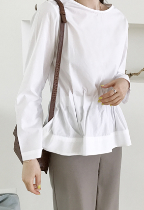 Slim band blouse (2color)