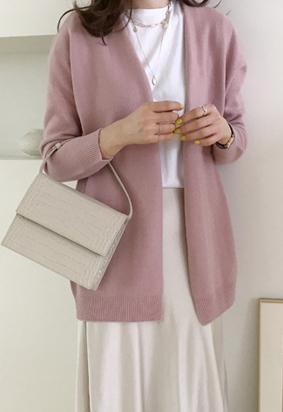 [Wholegarment] Rose cardigan (pink)