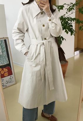 Trow trench coat (ivory)