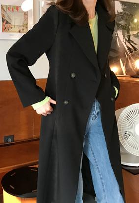 Eunoia double coat (black)