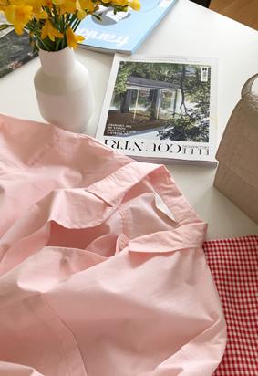 Wide slit shirt (3color)