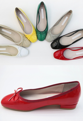Enamel flat shoes (7color)