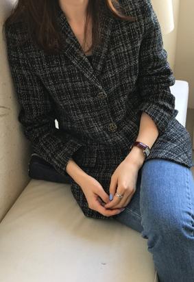 Adorable tweed jacket (black)