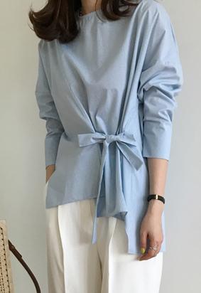 Fold strap blouse (2color)