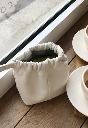 Leather mini bag (2color)