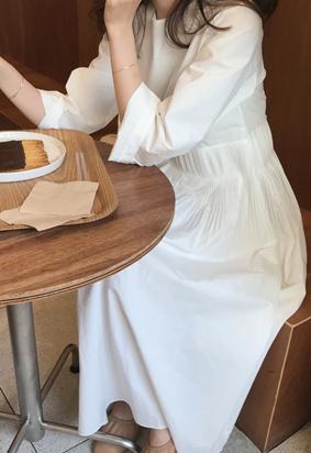 Kaeron pleats dress (2color)