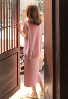 [Wholegarment] Mienne skirt (pink)