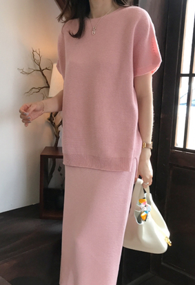 [Wholegarment] Mienne knit (pink)