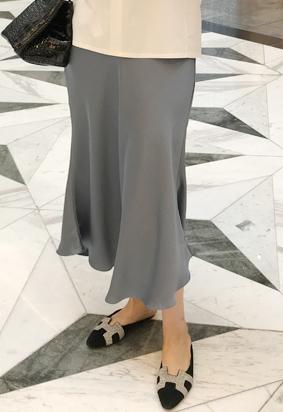 Silky Mermaid Skirt (skyblue)