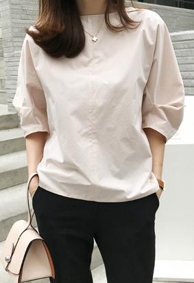 Plait blouse (peach)