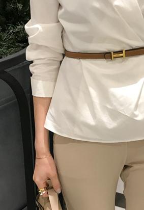 H leather belt (3color)