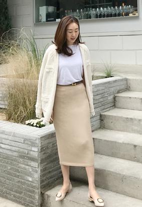 [Holga] [band] Fury skirt (beige)
