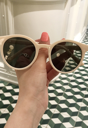Becky sunglasses (ivory)