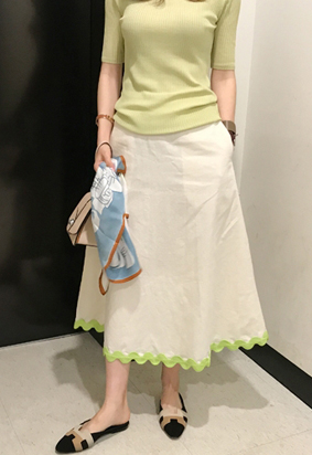 Tape skirt (2color)