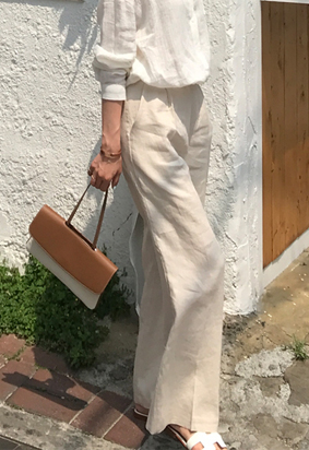 Muse linen slacks (3color)