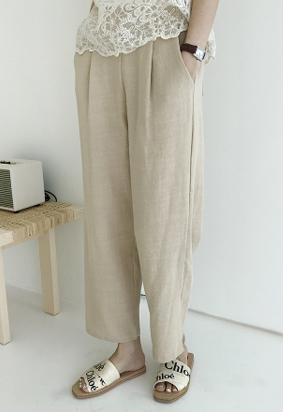 [Back band] Cool Cotton Slacks (3color)