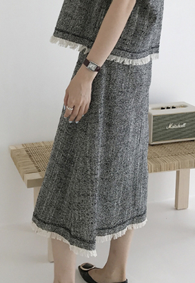 Elin tweed skirt (3color)