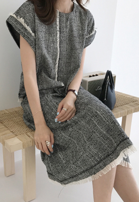 Elin tweed blouse (3color)