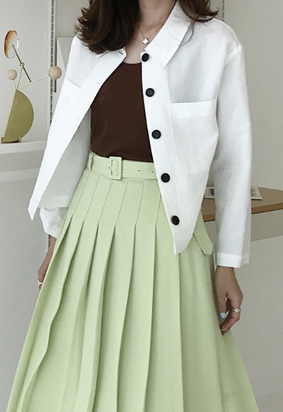 High crop jacket (white)