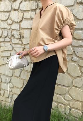 Serena blouse (beige)