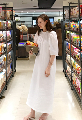 [Showroom Made] June linen dress (clean white)
