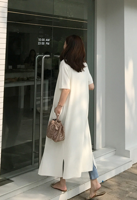 Two way pocket dress (ivory)