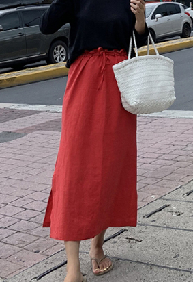 Eden skirt (red)