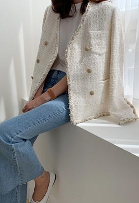 Tania Tweed Jacket (ivory)