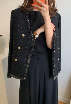 Tania Tweed Jacket (black)