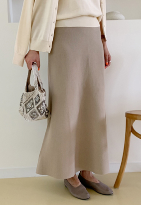 [Wholegarment] [band] Page Skirt (beige)