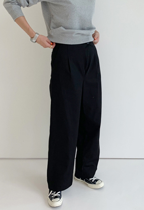 Unbalance pants (3color)