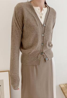 [cashmere] Rani Cardigan (brown)