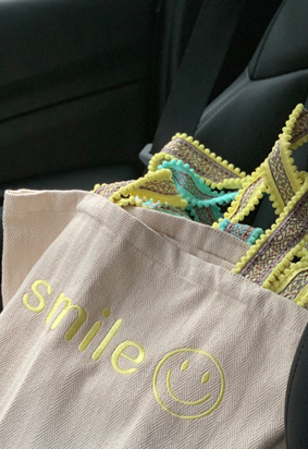 Smile eco bag (3color)