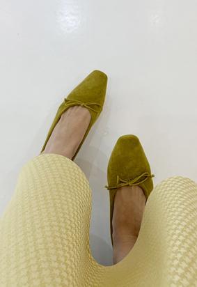Suede ribbon shoes (6color)