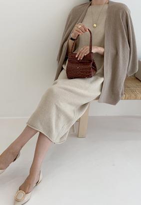 [Wholegarment] Kyra cardigan (brown)